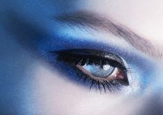 Blue eyeshadow  - Blue eyes
