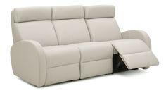 Jasper II Dual Reclining Leather Sofa by Palliser. A modern recliner. Fold Up Chairs, Leather Reclining Sofa, Leather Sofas, Clean Sofa, Types Of Sofas, Sofa Colors, Large Furniture, Fabric Sofa, Living Room Sofa