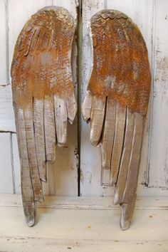 Large wood angel wings wall sculpture metallic by AnitaSperoDesign, $195.00