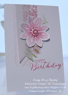 Lizy's House Of Cards: Petal Potpourri Birthday Ink: Strawberry Slush, Pink Pirouette; Butterfly Cards, Flower Cards, Karten Diy, Birthday Cards For Women, Flower Patch, Handmade Greetings, Tampons, Scrapbooking, Potpourri