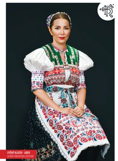 Myslava, Slovakia, known for the exquisite embroidery! Europe Fashion, Fashion History, Ukraine, Costumes Around The World, Sasha Doll, Folk Embroidery, Embroidery Patterns, Tribal Dress, Folk Fashion