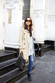 Classic Trench + Suede Booties - With Love From Kat Fall Booties, Suede Booties, Fall Outfits, Cute Outfits, Fashion Outfits, Women's Fashion, Fashion Tips, Fall Travel Outfit, Travel Outfits