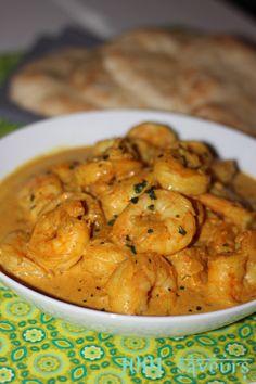 Curry thaï de crevettes au lait de coco