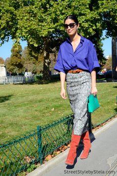 Caroline Issa, Paris Fashion Week SS 2015 - Street Style by Stela