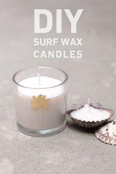DIY surf wax candles. http://blog.swell.com/DIY-Surf-Wax-Candle