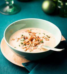 Suppe mit Schwarzwurzeln, Walnüssen und Honig.