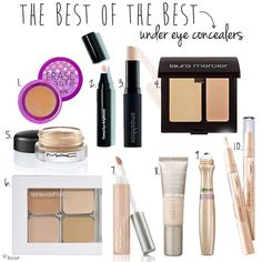 The best of the best under eye concealers - Woman spend hundreds of dollars on concealers because of these ever changing posts. I would love to see several of the same kinds show up - then I would think, hey, maybe that concealer actually works! One of those concealers is MAC Pro Longwear...absolutely fabulous concealer!