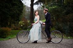 Irish Wedding Inspiration based on Irish Wedding Traditions. Tandem Bicycle Wedding. Photography by Shane O'Neill www.aspectphotography.com