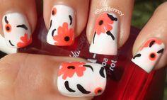 Marimekko Inspired Floral Nail Art Watch HD Nail Tutorial!http://youtu.be/pH9i1wkZjT0