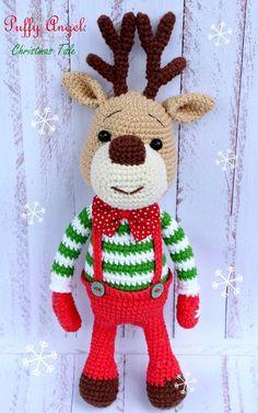 Предлагаю вам связать этого красавца оленя. Автор игрушки - Диана Пацкун. (Ее группа В контакте Workshop toys two sister ).