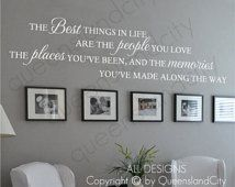 The Best Things In Life Aren't Things Love Memories Wall Quote Home Art Decal Vinyl Sticker