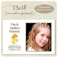 Tarjetón Montaje Fotográfico 13x18cm - C06053MF1318 Frame, Home Decor, Signature Book, First Holy Communion, Invitations, Picture Frame, Decoration Home, Room Decor, Frames