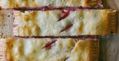 Strawberry & Cream Slab Pie uses 2 pie crusts, cream cheese and berries.  Simple. Could use apples as well maybe? Thinking good for brunch too.