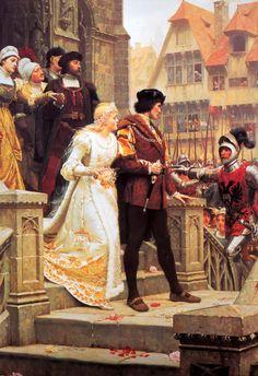 O chamado da guerra, 1888 Edmund Blair Leighton (Inglaterra, 1853-1922) óleo sobre tela, 91 x 61 cm  Coleção Particular