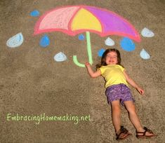 Chalk Drawings for Kids - Another fun item to check off my summer bucket list!!