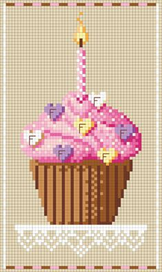 """From the creator: """"You can download them for free by just joining the group. That's it...No strings attached. You don't even have to participate in the group. Once your membership is approved, you can locate the cakes under Files / Freebies / Birthday Freebies. Happy Stitching!"""""""