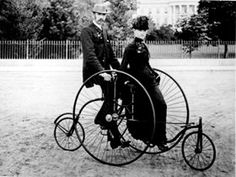 A bicycle built for two - bicycling became popular as a recreation at the end of the century