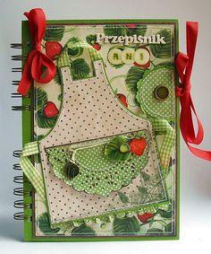 A little apron for recipe book album!                                                                                                                                                                                 More