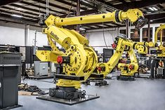New and reconditioned FANUC robots are available at great prices through RobotWorx. Ready for sale or integration, the FANUC long arm robot is great for material handling applications. Industrial Robotic Arm, Industrial Robots, Fanuc Robotics, Robot Arm, Spare Parts, Tactical Gear, Lab, Sci Fi, Workshop