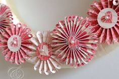 Image result for valentine paper wreath