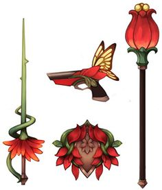 Interesting weapons and shield for a fae/fairy/elf?