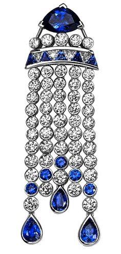 Piaget Sapphire & Diamond Ear Pendant