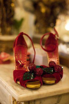 yves saint laurent   cherry heels