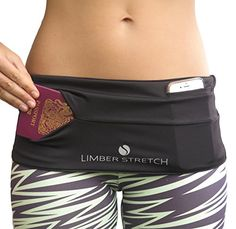 Limber Stretch Hip Hug Spandex Lycra Waist Pack for Traveling, Running, Walking, Cycling, Sports, Hiking, Yoga & More! Keep your iPhone 6 plus secure & by your side! Amazon, $30