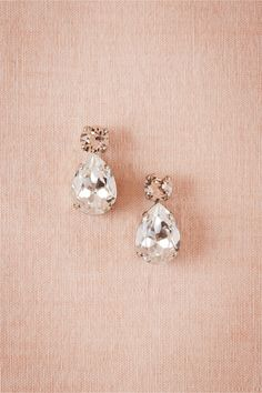 Petite Crystal Drops in Bridal Party & Guests Bridesmaids Jewelry at BHLDN