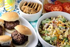 Your favorite broccoli salad combines with your favorite macaroni salad to create this flavorful side dish that pairs perfectly with grilled burgers! Pepperidge Farm Cookies, Broccoli Pasta Salads, Main Dishes, Side Dishes, Summer Potluck, Angus Beef, Macaroni Salad, How To Make Salad, Japanese Food