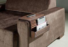 Couchmaid Organizer Original Sofa Tray Walnut Multi by SoffittaUSA, $76.99