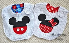 Mickey Mini applique for bib, onsie example
