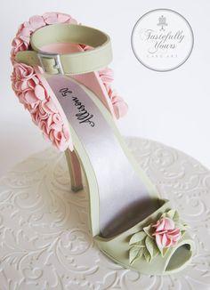 Beautiful fondant stiletto shoe