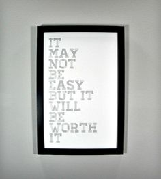 It May Not Be Easy Framed Art Print  by Canton Box Co.  on Scoutmob Shoppe