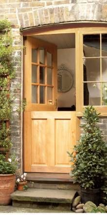 Love The Look Of Natural Wood Against Tumbled Brick Porch Doors House