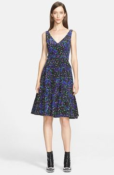 Erdem Floral Ruffle Hem Silk Dress available at #Nordstrom