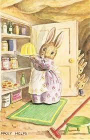 Resultado de imagen para tarjetas de navidad antiguas con conejos