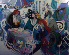 "Original Painting ""Papillion"" by Isaac Maimon"