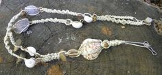 Lanyard with natural seashells beads and by MatchingTreeDesigns
