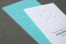 SybaSprinter Siberian Husky Breeders, Letterpress Business Cards, Embossed Business Cards