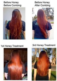 Lighten Your Hair with Honey. Even works on henna, apparently.