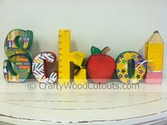 School Wooden Craft Letters