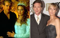 Then and now... Cary Elwes and Robin Wright Penn (Copyright: REX)