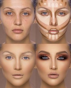 37 Tutorial for pretty makeup for beginners and students 2019 - Beauty Make-Up Best Contouring Products, Contouring And Highlighting, Best Makeup Products, Best Highlighter Makeup, Makeup Contouring Tutorial, Drag Makeup Tutorial, Highlight Contour Makeup, Liquid Makeup, Eye Shadow Tutorial