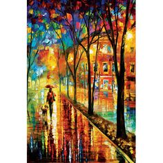 Decor Wall Art Snow Landscape Painting On Canvas By Leonid Afremov - Romantic Winter 2 Oil Painting On Canvas, Painting Prints, Painting Art, Canvas Art, Wow Art, Dog Paintings, Art Plastique, Pretty Pictures, Painting Inspiration