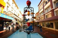 wellington art icons - Bucket Fountain - a quirky, popular Wellington landmark in Cuba Mall.