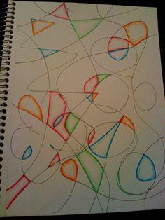 Art Ideas -                                                              LOVE this!!!  My art teacher did this with us in elementary school.  We would also do patterns inside different shapes :)  Simple Art Activity that Provides Stress Relief, even for Anxiety