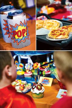 Superhero-party-food- I like the pop labels.
