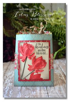 Connie Collins: Constantly Stamping: Another Mini Treat Bag n= 1/26/15  (SU/ 2015 SAB: Lotus Blossom)