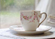 vintage German rose Tea Cup & Saucer #vintage #teacup #saucer #pink #roses